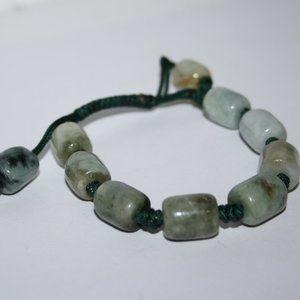 """Adjustable natural green stone bracelet 7-8"""""""